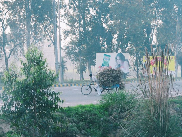 Morning commute. | Delhi, India