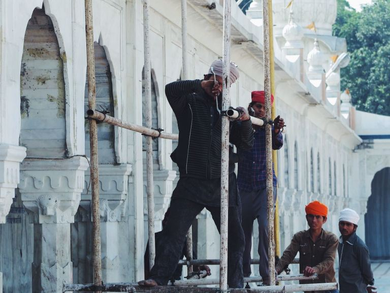 Men at work. | Delhi India